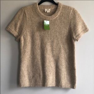 Kate Spade Knit Gold Shimmery Sweater Size Large